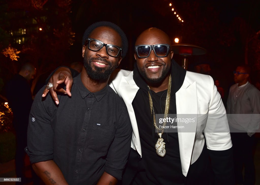 B. Cox (L) and Rico Love attends Spotify's Inaugural Secret Genius Awards hosted by Lizzo at Vibiana on November 1, 2017 in Los Angeles, California.