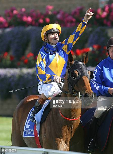 Cox Plate winner Fields of Omagh ridden by Craig Williams on 28 October 2006 THE AGE SPORT Picture by ANGELA WYLIE