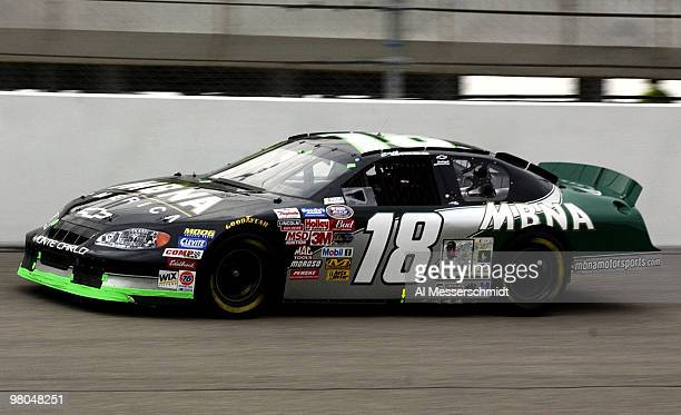 Coy Gibbs son of former NFL coach Joe Gibbs races in the Target House 200 at North Carolina Speedway Saturday November 8 2003