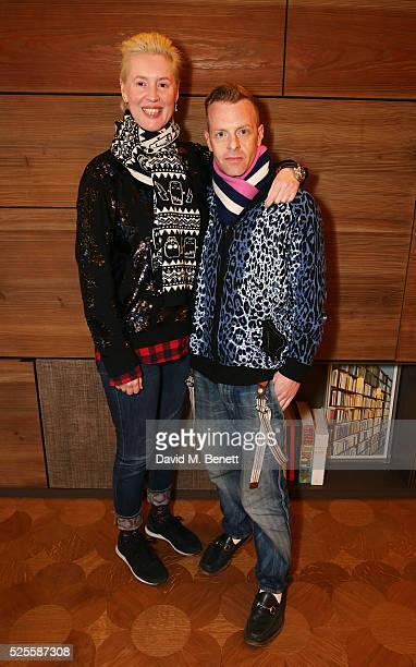 Cozette McCreery and Sid Bryan attend the BFC Fashion Trust x Farfetch cocktail reception on April 28, 2016 in London, England.