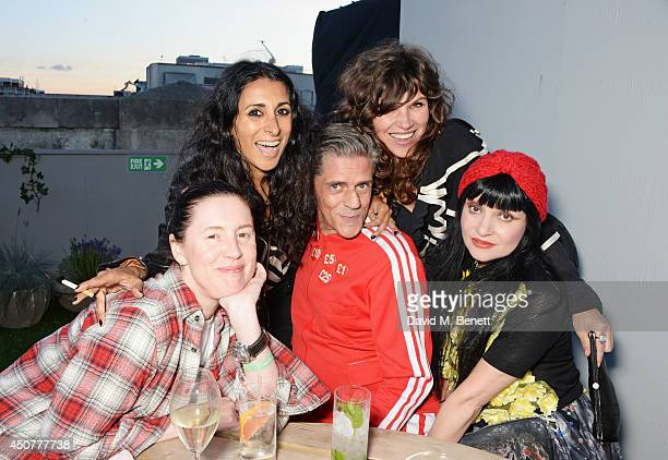 Cozette McCreery Serena Rees Judy Blame Jess Morris and Princess Julia attend a party hosted by SIBLING LOVE on the rooftop of Selfridges in...