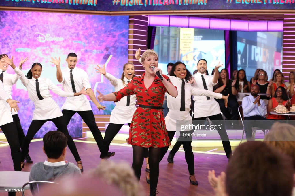AMERICA - Cozi Zuehlsdorff and Heidi Blickenstaff, stars of the Disney Channel Original Movie 'Freaky Friday,' perform a live version of 'At Last It's Me' on 'Good Morning America,' in New York City on Monday, August 8, 2018. Freaky Friday debuts FRIDAY, AUGUST 10 (8:00 p.m., ET/PT) on Disney Channel. COZI