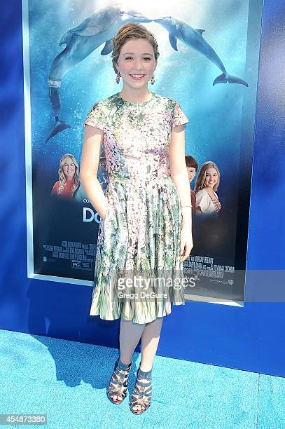 Cozi Zuehlsdorff arrives at the Los Angeles premiere of Dolphin Tale 2 at Regency Village Theatre on September 7 2014 in Westwood California