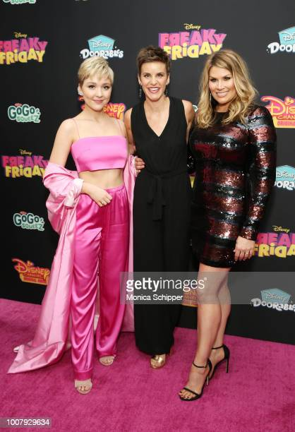 Cozi Zuehlsdorff Jenn Colella and Heidi Blickenstaff attend the Freaky Friday New York Premiere at The Beacon Theatre on July 30 2018 in New York City