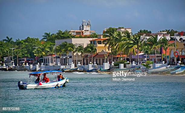 Cozumel tropical coast and town