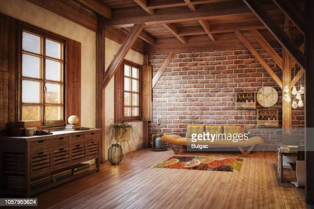 cozy and rustic inteior - rustic stock pictures, royalty-free photos & images