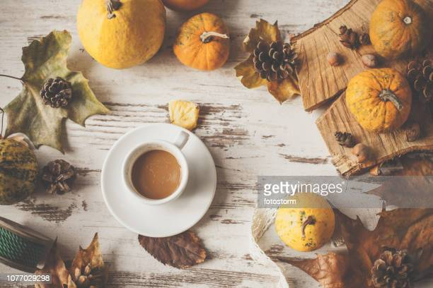 cozy autumnal arrangement - thanksgiving wallpaper stock photos and pictures