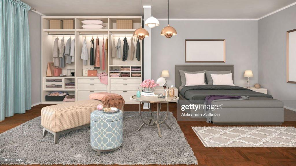Cozy Bedroom : Stock Photo