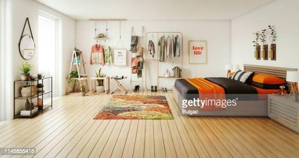 quarto acolhedor - quarto de dormir - fotografias e filmes do acervo