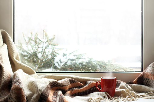 cozy home atmosphere in the winter 1033736164