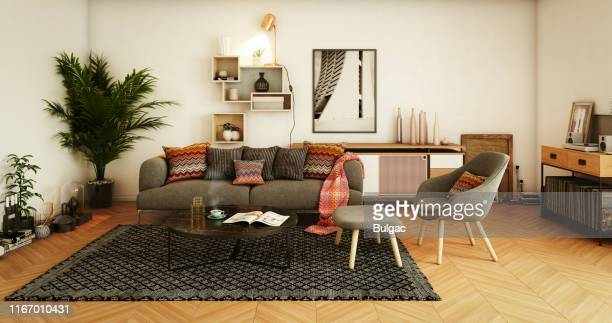cozy home interior - cosy stock pictures, royalty-free photos & images