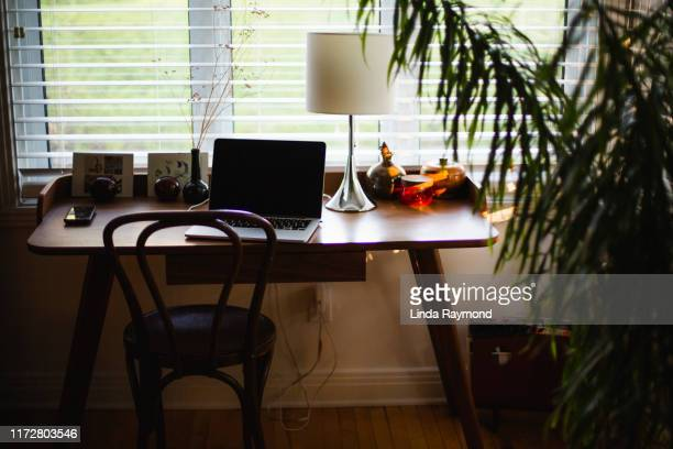 cozy home office - linda wilton stock pictures, royalty-free photos & images