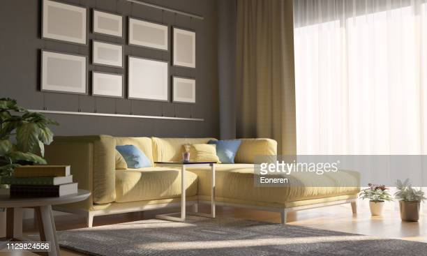 Cozy Living Room With Sunlight