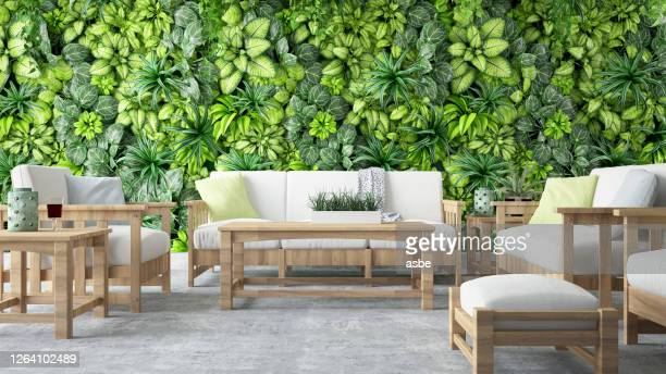 cozy lounge outside - furniture stock pictures, royalty-free photos & images
