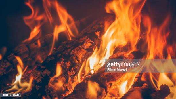 cozy mood - inferno stock photos and pictures