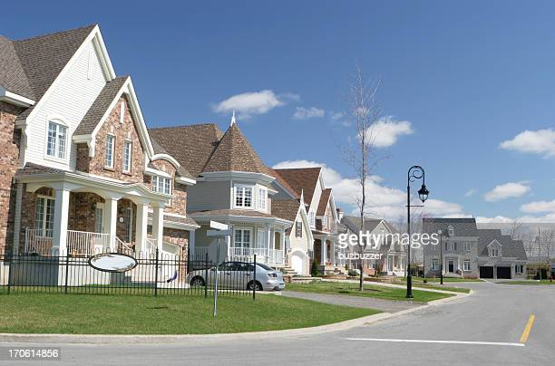 cozy neighborhood - buzbuzzer stock pictures, royalty-free photos & images