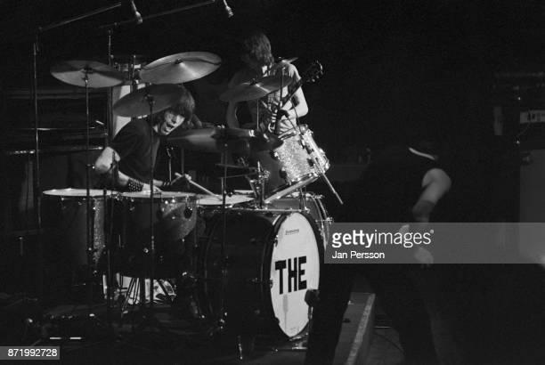 Cozy Powell of rock group Bedlam performing in Copenhagen Denmark March 1973