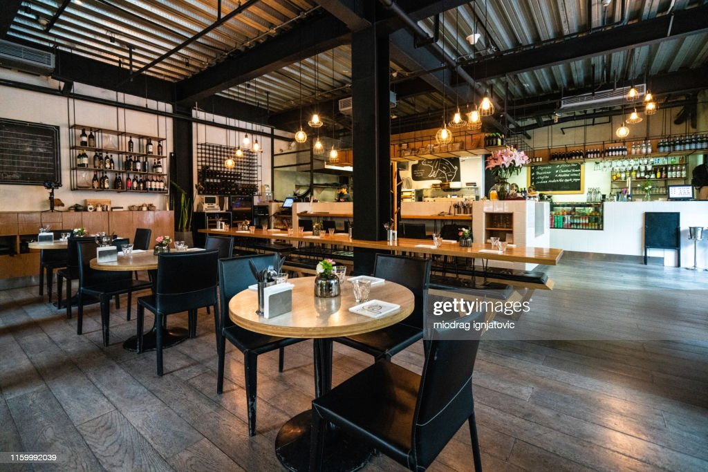 Cozy restaurant for gathering with friends : Stock Photo