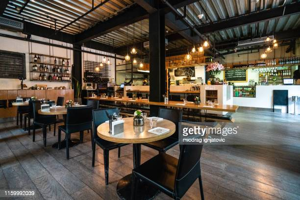 cozy restaurant for gathering with friends - restaurant stock pictures, royalty-free photos & images