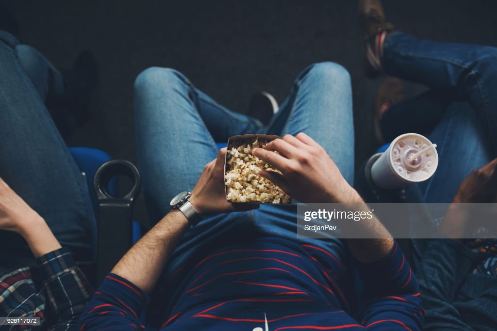 Cozy time at the cinema : Stock Photo