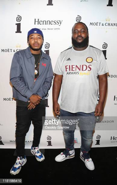 Cozz and Bas attend IGA BET PreAward Party at Poppy on June 22 2019 in Los Angeles California