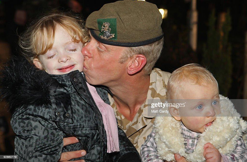 Burma Company 3rd Battalion Yorkshire Regiment Return Home From Afghanistan