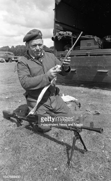 Cpl Eddie Hallahan of East Company 13th Batt Mallow and Fermoy cleaning the Bren Gun during the FCA Annual Shooting Competition at the Curragh