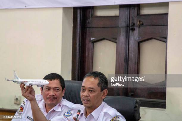 Cpt NURCAHYO UTOMO held an air plane miniator showing the how an air plane stall look a like Indonesian Safety Transportation held press conference...
