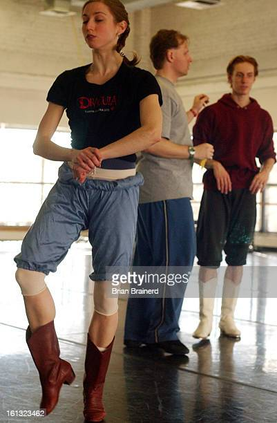 DENVER CO JAN 27 2004 <cq> Colorado Ballet rehearses for Rodeo in the company dance studios at 13th and Lincoln principal dancer <cq> Sharon Wehner...