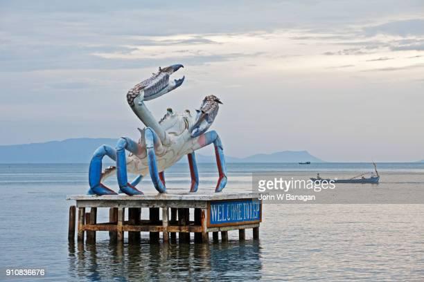 Crab advertising monument.  Kep