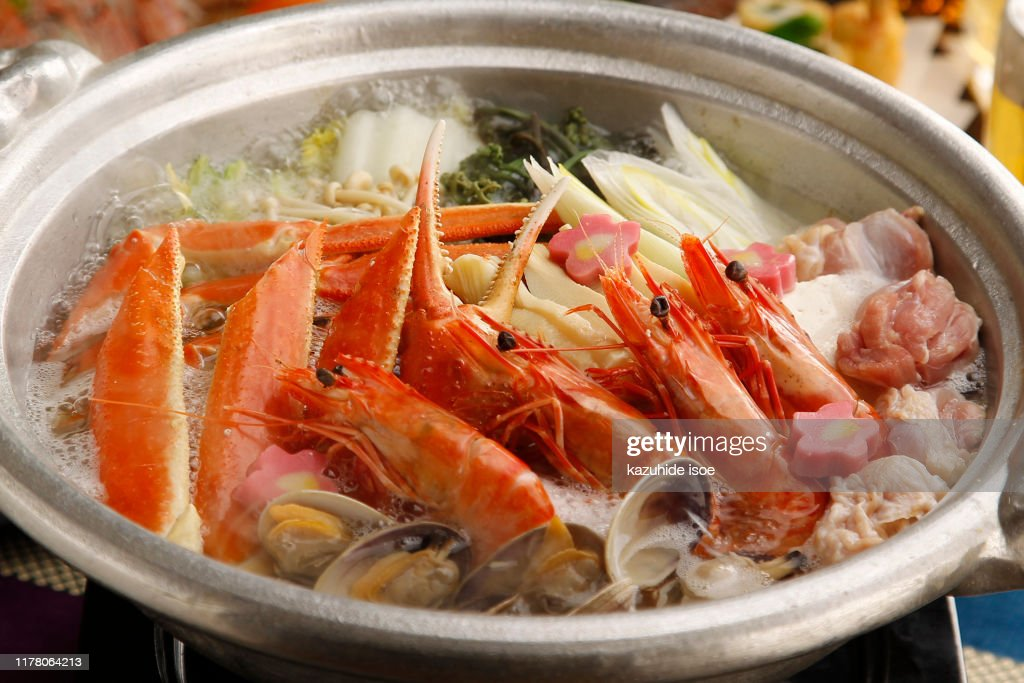 Crab and shrimp pot : Stock Photo