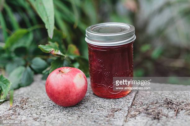 Crab Apple Jelly in Mason Jar - Canning, Preserves