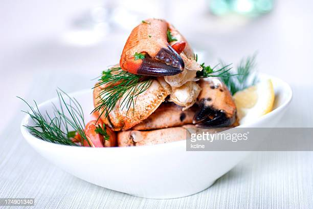 crab dish - crab seafood stock photos and pictures