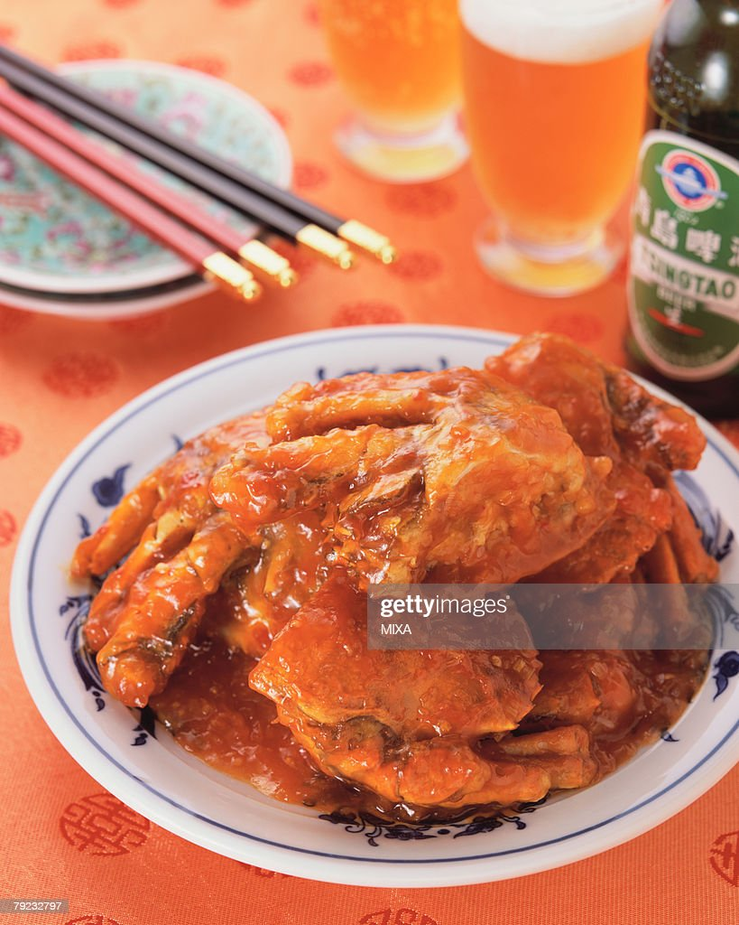 Crab in Chili Sauce : Stock Photo