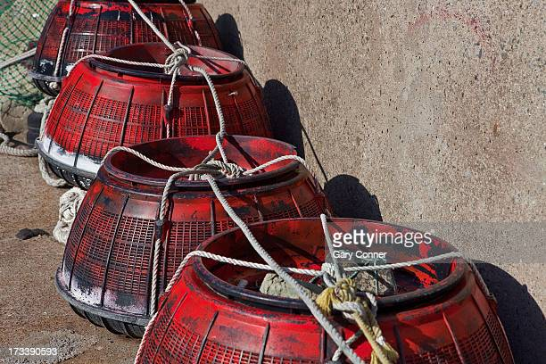 crab traps for fishing - crab pot stock photos and pictures