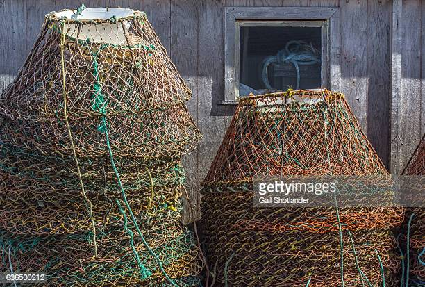 crab traps - crab pot stock photos and pictures