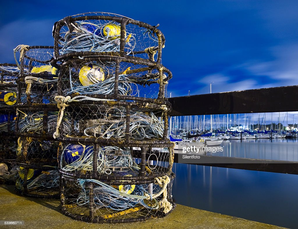 Crab Traps Ready To Go : Stock Photo