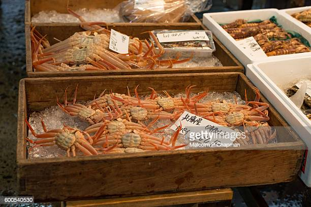 Crabs for sale at Fish Market, Tokyo, Japan