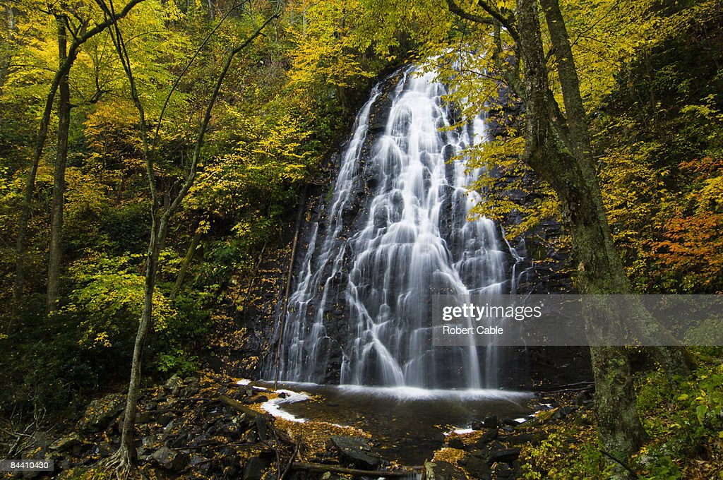 Crabtree Falls in autumn. : Stock Photo