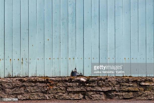 crack in the fence - heinovirta stock pictures, royalty-free photos & images