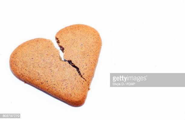 Cracked cookies on white background