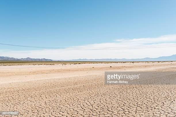 Cracked, dry soil in Nevada