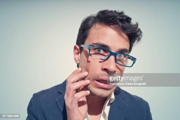 Cracked eyeglasses