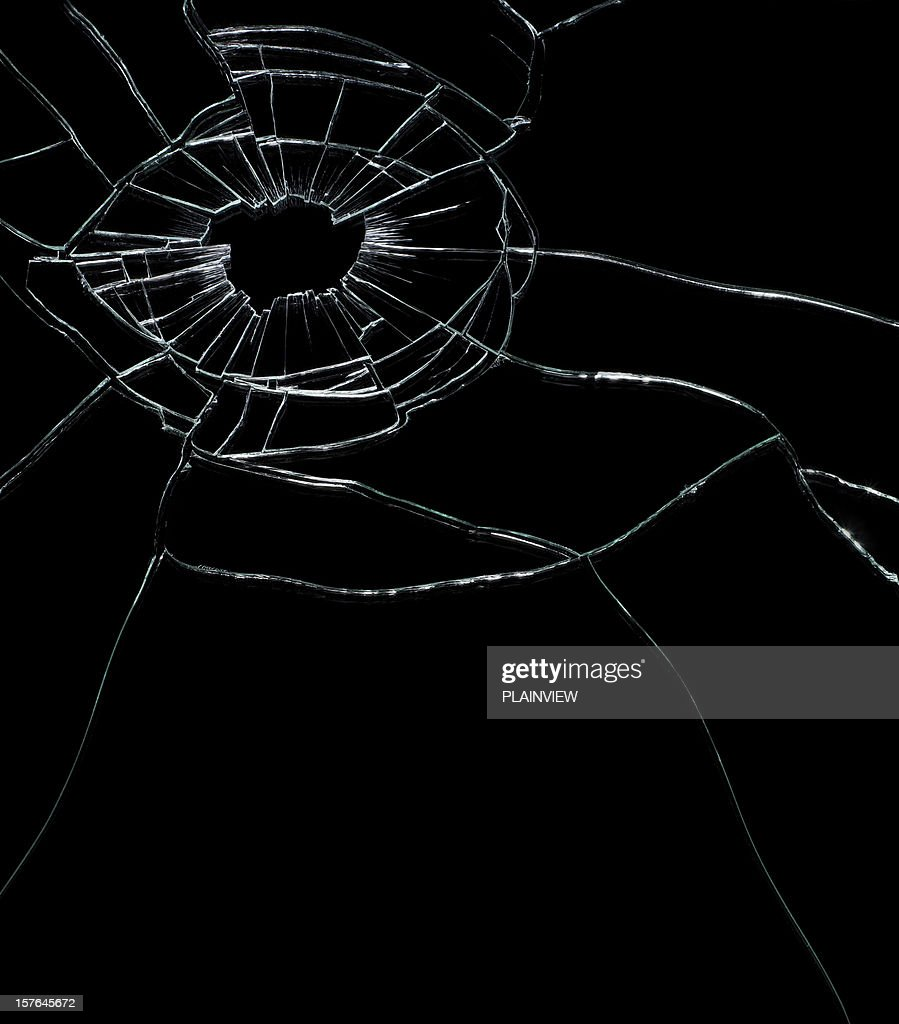 Cracked glass : Stock Photo
