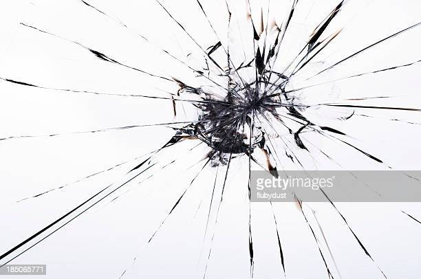 cracked laminated glass
