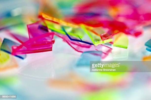 cracked plastic on white reflective surface - acrylic glass stock pictures, royalty-free photos & images
