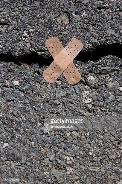 Cracked Road Bandaid
