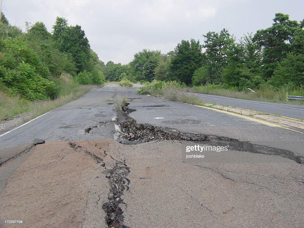 Cracked road : Stock Photo