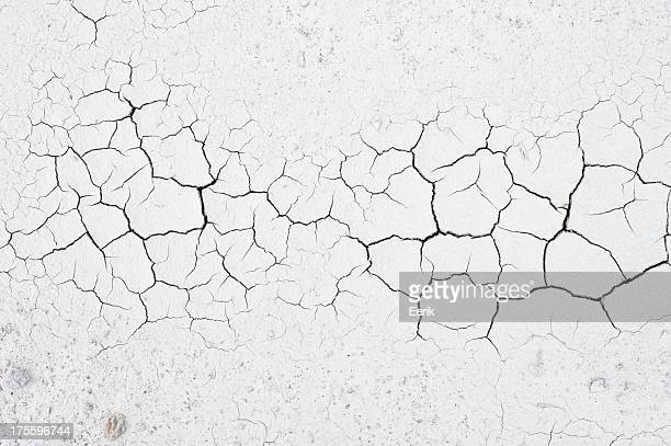 Cracked soil