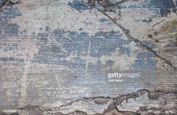 cracked stone floor